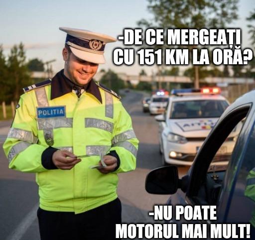 Ministerul Afacerilor Interne continuă pe Facebook campania de conștientizare privind depășirea vitezei legale pe șoselele din România. Cea mai nouă postare reproduce dialogul amuzant dintre un șofer care a fost prins de radar și polițist.