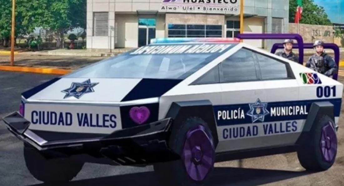 Tesla Cybertruck Poliție Mexic