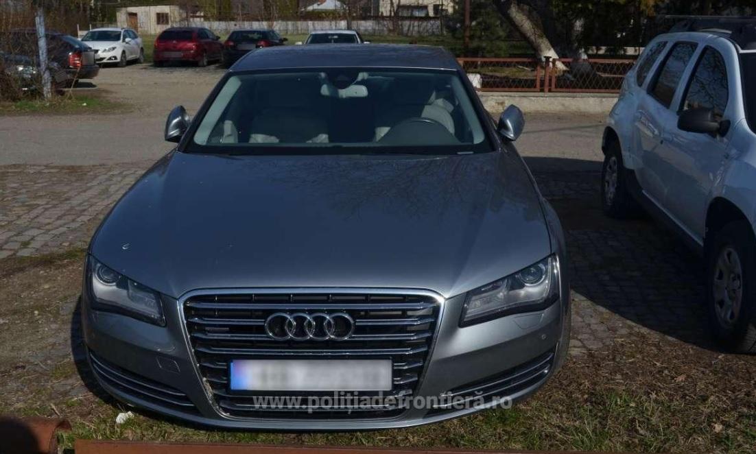 Poliţiştii de frontieră din Iaşi au descoperit şi indisponibilizat un Audi A8, după ce au desocperit cp mașina figura ca fiind bun căutat pentru confiscare, alertă introdusă de autorităţile din Norvegia.
