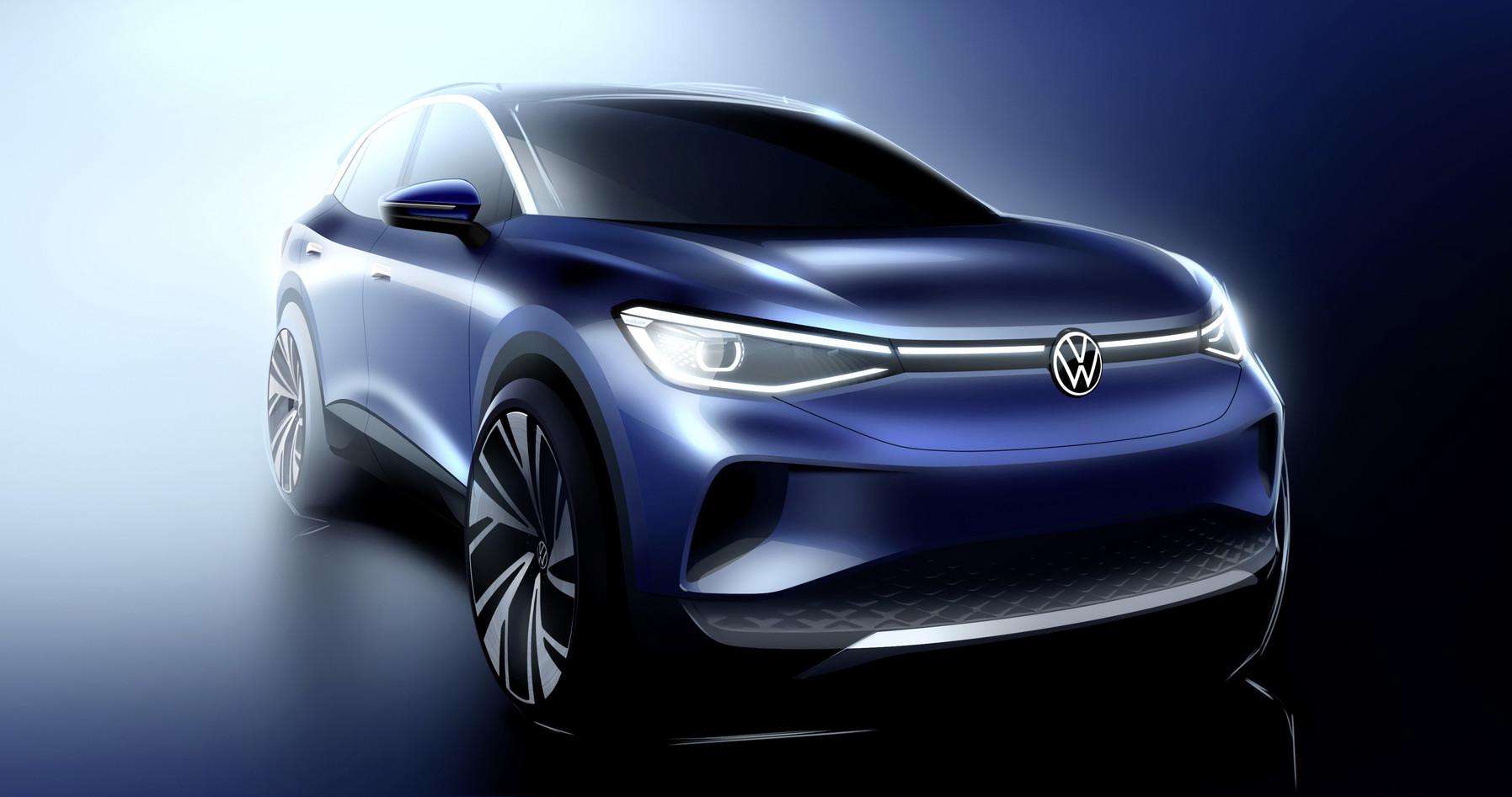 Noi imagini cu ID.4, primul SUV full electric Volkswagen