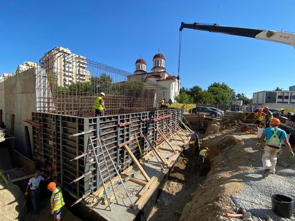 Când va fi finalizat podul de la Doamna Ghica? GALERIE FOTO cu stadiul lucrărilor