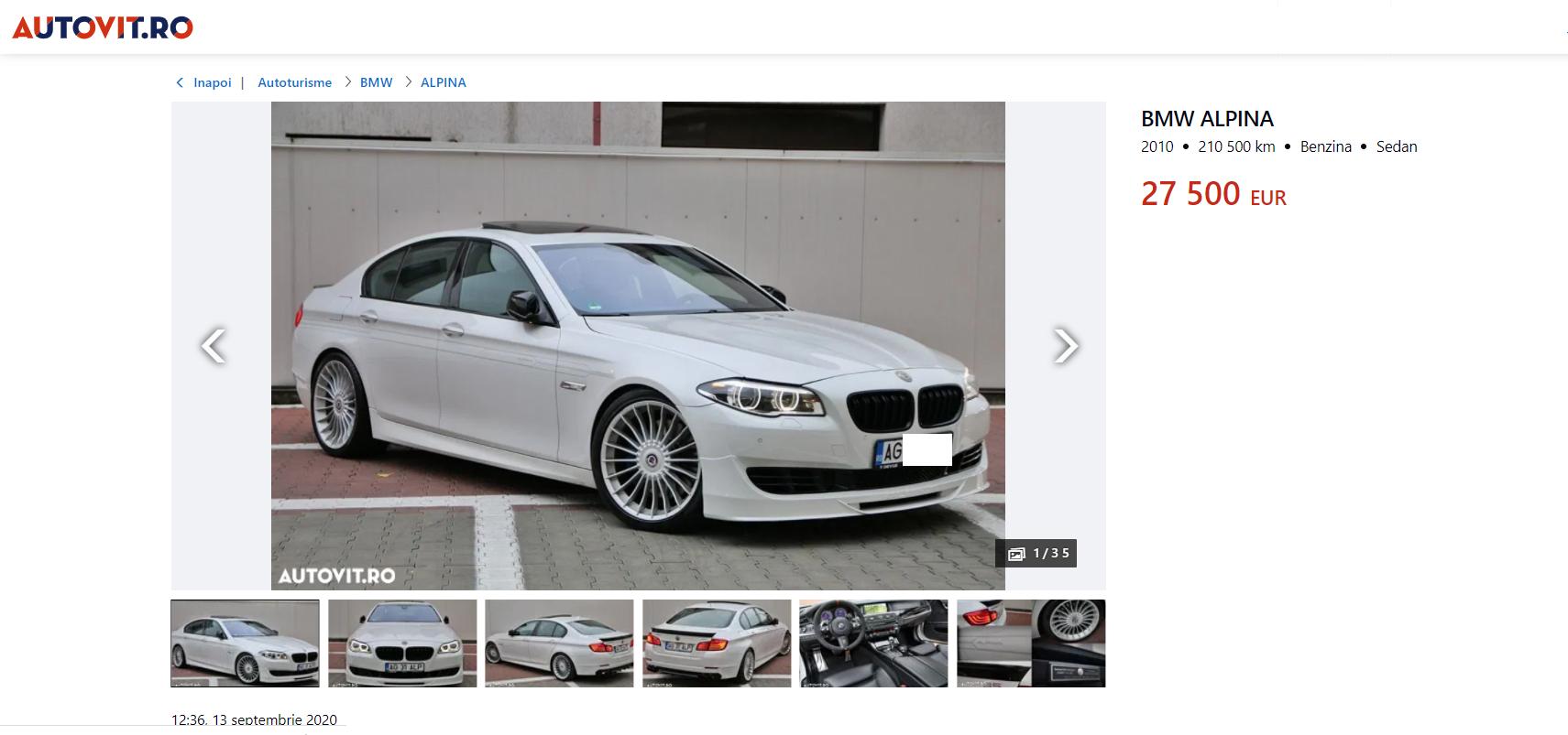 Alpina este o companie auto din Bavaria, care dezvoltă și vinde versiuni de înaltă performanță ale autoturismelor BMW. Alpina lucrează îndeaproape cu BMW, iar procesele lor sunt integrate în liniile de producție ale BMW