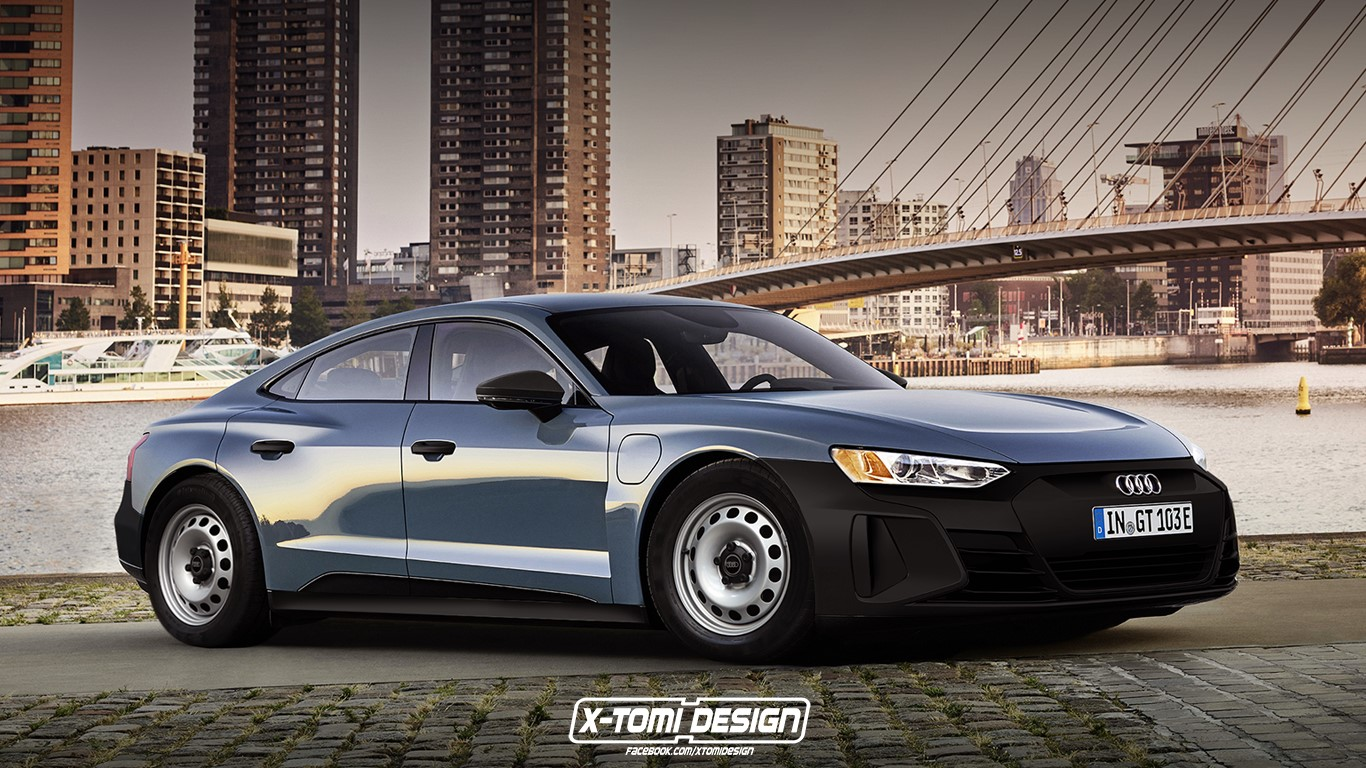 Cum ar arăta Audi e-tron GT în versiunea low-cost