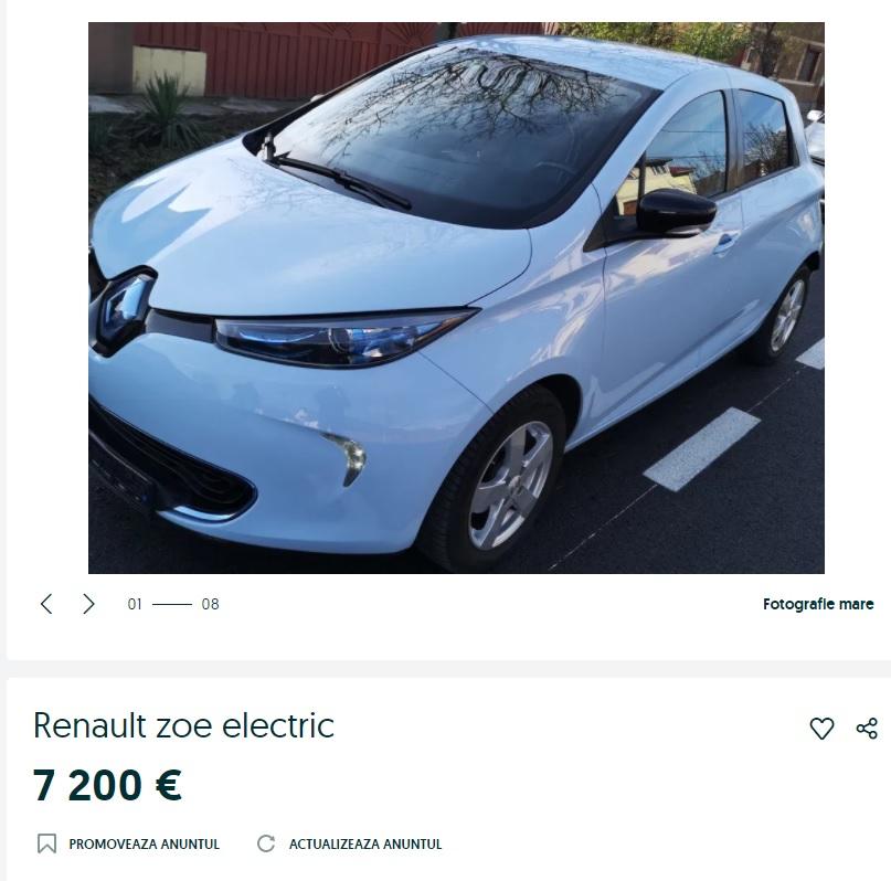 Mașini electrice ieftine 2021. Cât costă pe OLX una dintre cele mai ieftine mașini care se încarcă la priză?